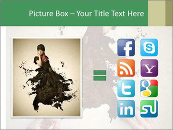 Hands painting a beautiful woman PowerPoint Templates - Slide 21