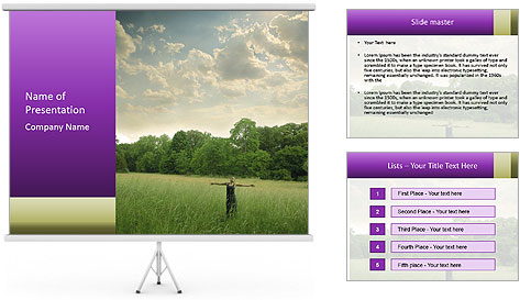 Open arms PowerPoint Template