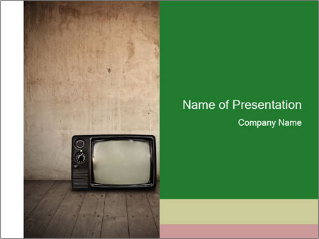 Television in room PowerPoint Templates