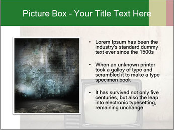 Television in room PowerPoint Templates - Slide 13