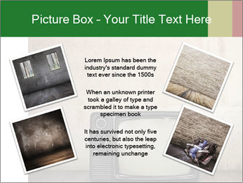 Television in room PowerPoint Templates - Slide 24