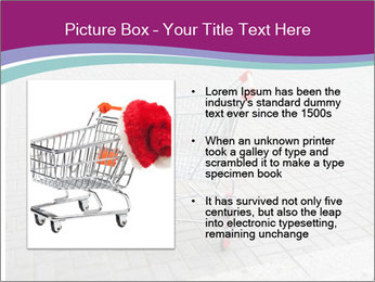 Shopping cart in parking lot PowerPoint Template - Slide 13