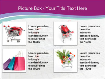 Shopping cart in parking lot PowerPoint Template - Slide 14