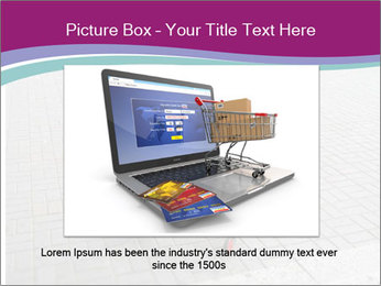 Shopping cart in parking lot PowerPoint Template - Slide 16
