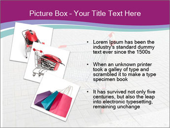 Shopping cart in parking lot PowerPoint Template - Slide 17