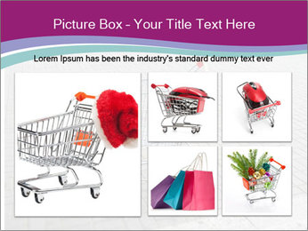 Shopping cart in parking lot PowerPoint Template - Slide 19