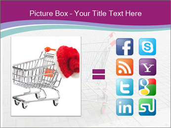 Shopping cart in parking lot PowerPoint Template - Slide 21