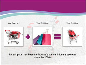 Shopping cart in parking lot PowerPoint Template - Slide 22