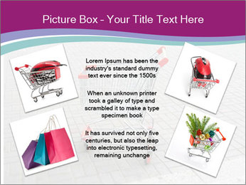 Shopping cart in parking lot PowerPoint Template - Slide 24