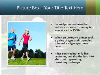 Elderly woman likes to run PowerPoint Template - Slide 13