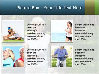 Elderly woman likes to run PowerPoint Template - Slide 14