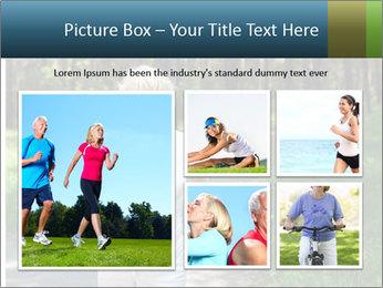 Elderly woman likes to run PowerPoint Template - Slide 19