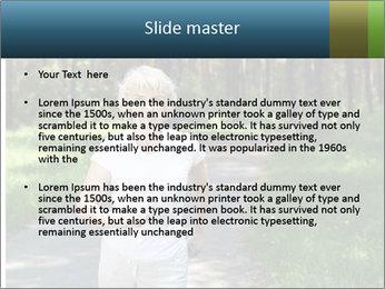 Elderly woman likes to run PowerPoint Template - Slide 2