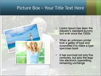Elderly woman likes to run PowerPoint Template - Slide 20