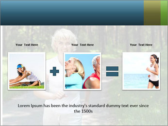 Elderly woman likes to run PowerPoint Template - Slide 22