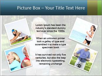 Elderly woman likes to run PowerPoint Template - Slide 24