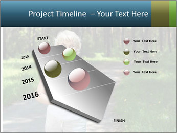 Elderly woman likes to run PowerPoint Template - Slide 26