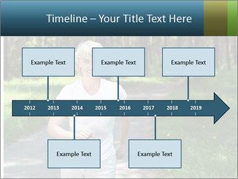 Elderly woman likes to run PowerPoint Template - Slide 28