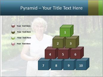 Elderly woman likes to run PowerPoint Template - Slide 31