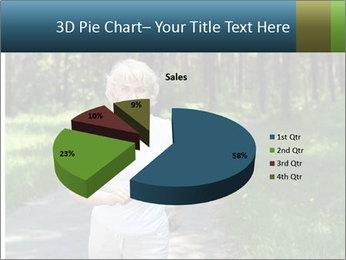 Elderly woman likes to run PowerPoint Template - Slide 35