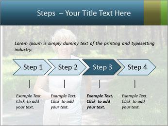 Elderly woman likes to run PowerPoint Template - Slide 4