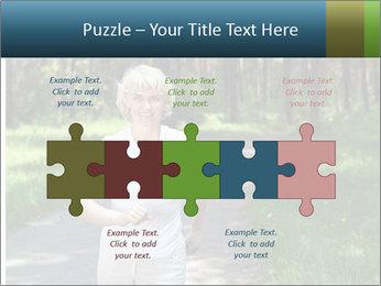 Elderly woman likes to run PowerPoint Template - Slide 41