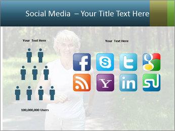 Elderly woman likes to run PowerPoint Templates - Slide 5