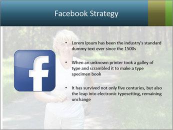 Elderly woman likes to run PowerPoint Template - Slide 6
