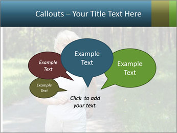 Elderly woman likes to run PowerPoint Template - Slide 73