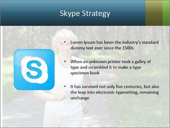 Elderly woman likes to run PowerPoint Templates - Slide 8