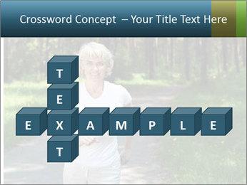Elderly woman likes to run PowerPoint Template - Slide 82