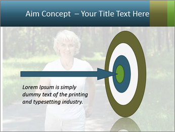 Elderly woman likes to run PowerPoint Templates - Slide 83