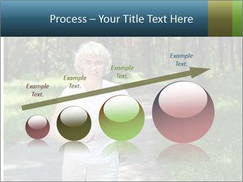 Elderly woman likes to run PowerPoint Template - Slide 87