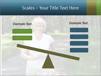 Elderly woman likes to run PowerPoint Template - Slide 89