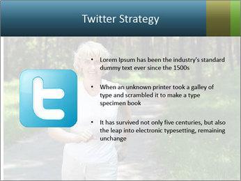 Elderly woman likes to run PowerPoint Template - Slide 9