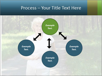 Elderly woman likes to run PowerPoint Template - Slide 91
