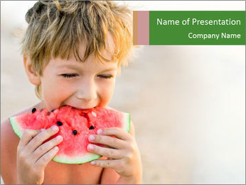 Watermelon PowerPoint Template - Slide 1