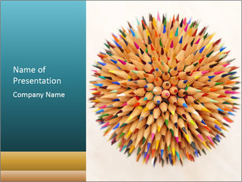 Hedgehog out of pencils PowerPoint Templates - Slide 1