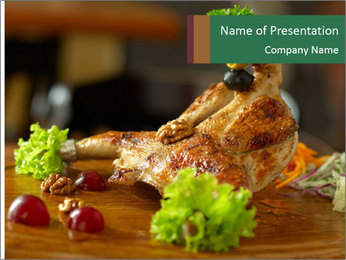 Grilled chicken PowerPoint Template