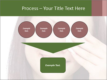 Young brunette woman using cotton pads for removing makeup PowerPoint Template - Slide 93