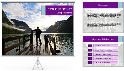 Silhouette of man PowerPoint Template