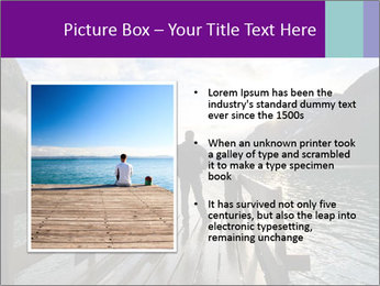 Silhouette of man PowerPoint Template - Slide 13