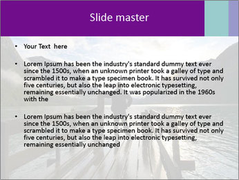 Silhouette of man PowerPoint Template - Slide 2