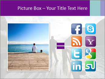Silhouette of man PowerPoint Template - Slide 21