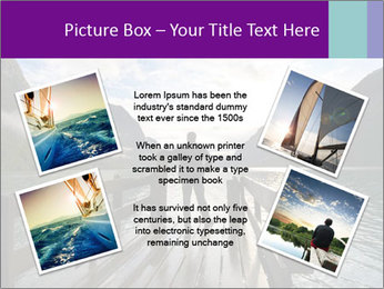 Silhouette of man PowerPoint Template - Slide 24
