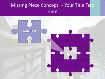 Silhouette of man PowerPoint Template - Slide 45