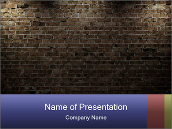 Old interior PowerPoint Template - Slide 1