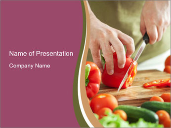 Cutting vegetables PowerPoint Template - Slide 1