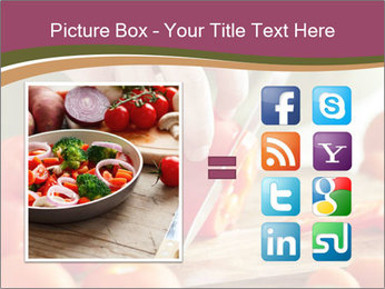 Cutting vegetables PowerPoint Template - Slide 21
