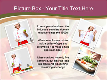 Cutting vegetables PowerPoint Template - Slide 24